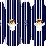 Caixa Sabonete Batizado Menino Azul Marinho e Branco