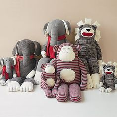 Sock Animals - Sherri Crochets Knitted Toy Patterns