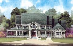 House Plan 98275   Country Farmhouse Luxury Plan with 5083 Sq. Ft., 5 Bedrooms, 5 Bathrooms, 3 Car Garage at family home plans