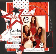 cheerleading+scrapbook+layout+ideas | Scrapbooking by Kelly Messer: July 2010