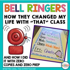 Bell Ringers: How They Changed My Life and Why I Can't Live Without Them | The Hungry Teacher