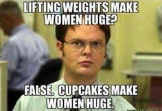 Women Fitness Motivation   Female Fitness Motivation for 2013 / CUPCAKES make women huge!!