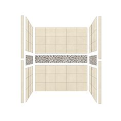 American Bath Factory Mesa Fiberglass and Plastic Shower Wall Surround Side and Back Panels (Common: 32-in x 60-in; Actual: 80-in x 32-in x 60-in)