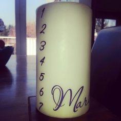 Eine süße Geburtstagskerze für eine niedliche Maus Pillar Candles, Crafts, Candles, Birth, Manualidades, Handmade Crafts, Craft, Arts And Crafts, Artesanato