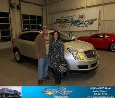 Happy Anniversary to Marcella Goade on your 2012 #Cadillac #Srx from Marqui Chaney  and everyone at Crossroads Chevrolet Cadillac! #Anniversary