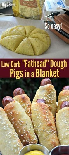 "Low Carb ""Fathead"" Pigs in a Blanket – Hip2Save"