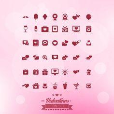 Free vector Valentines icon set #32626