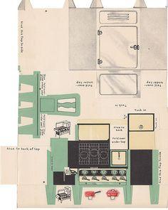 Vintage 1933 Florence Doll'S Miniature Model Kitchen Florence Stove CO Mass | eBay