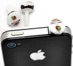 Wholesale 20PCs Sweet Lovely Resin Doughnut 3.5mm Dust Dustproof Plug iPhone/ iPad Earphone Stopper Decor Ornament