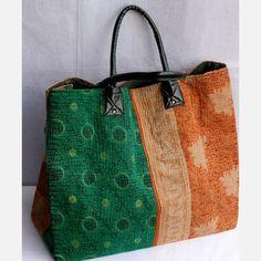vintage sari tote by filling spaces