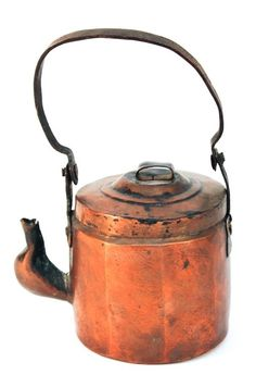 Continental or American copper kettle : Lot 125