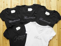 Hey, I found this really awesome Etsy listing at https://www.etsy.com/listing/164588215/5-bridesmaid-t-shirt-5-bridal-party