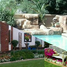 Swimming pool  and landscaping in  Midrand Designer Gardens Landscaping www.designergardenlandscaping.co.za
