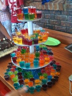 Bachelorette Party Ideas - Jello Shots on a cupcake stand!
