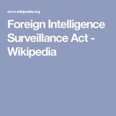 Foreign Intelligence Surveillance Act - Wikipedia