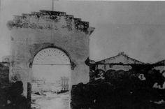 Cementerio de San Sebastián.  Esta era la puerta de entrada que miraba hacia la Calle San Sebastián y por esto recibía su nombre.