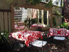 Red Tea box; tea patio