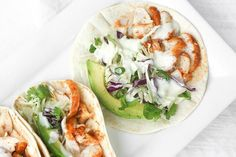 Easy Fish Tacos with Lime Crema: When lime and cilantro come together with fish, a mouthful of exquisite flavour is born. Try these easy fish tacos with lime crema and see for yourself! | aheadofthyme.com #TipsAndAdviceForBackPain