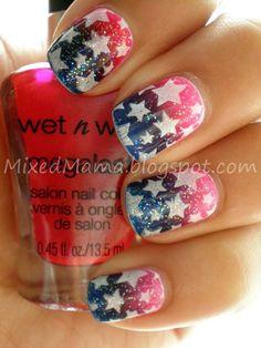 -Best Patriotic Nail Art