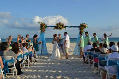 Beach wedding in Riviera Maya #weddings #rivieramaya