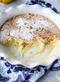 lemon almond pudding cake I howsweeteats.com