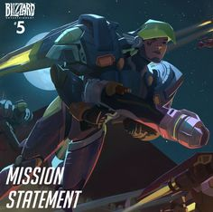 """I will protect the innocent.""  Pharah soars into action in Mission Statement—the fifth entry in our series of free digital comic shorts exploring the heroes of Overwatch. In this installment, we follow Helix security chief Fareeha Amari into a high-stakes battle for her home country."