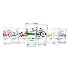 Personalized Tandem Bike Tumblers - Set of 8