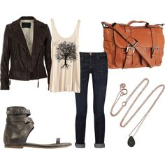 Love the jacket, sandals, jeans. Something to aspire to for the weekend, which currently ends in sweatpants and a t-shirt.