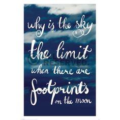 Poster: Why Is The Sky The Limit zum Verkauf online.