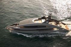Sail Into the Sunset on the Cassina Furnished 'Ocean Emerald' #yachts trendhunter.com