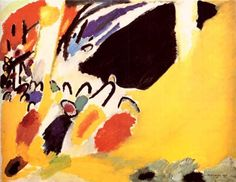 "Wassily Kandinsky. Impression III (Concert), 1911 Oil on canvas 30.5 × 39.4"" (77.5 × 100.0 cm) Munich, Germany. Lenbachhaus Gallery"