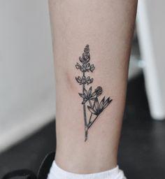 pacific northwest olivia harrison pnw vancouver tattoos botanical tattoos fearbear black medicine tattoo Arctic lupine plant