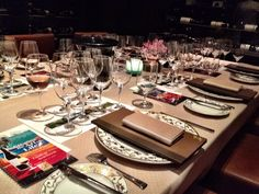 Table setting at Pays d'Oc wine event