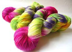 Handgefärbte Sockenwolle: Frohe Ostern 2015 von lakeside-wolle auf DaWanda.com