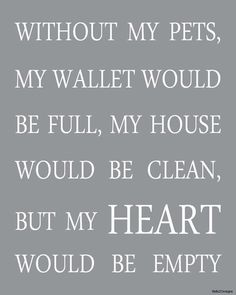 Without my pets, my wallet would be full... So true!