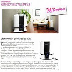Novembre 2012 : Cpourlesfemmes.com présente l'humidificateur Smartair.
