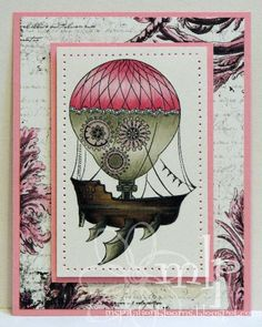 Prickley Pear Rubber Stamps: Steampunk Ship