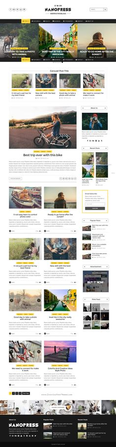 Nanopress is a Premium Personal Blog site bootstrap template that clean design and fully responsive layout. This theme is useful with many homepage style, slider style and much more! #newspaper #website