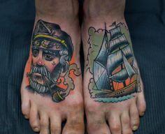 Lovely feet tats by Craftz B !