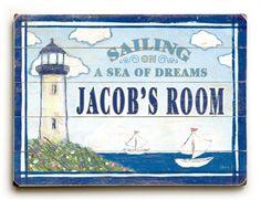 A Sea of Dreams Vintage Wood Sign