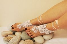Free ship-LUX Wedding White Lace Jewelry  by ArtofAccessory