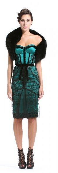 Zuhair Murad ~  love the black lace