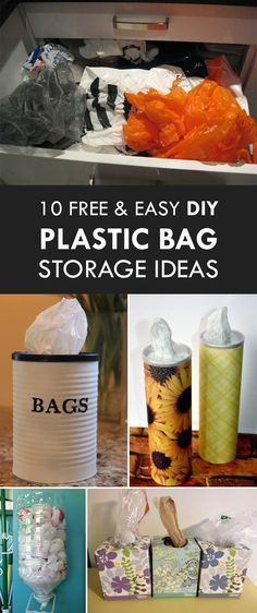 10 Free and Easy DIY Plastic Bag Storage Ideas