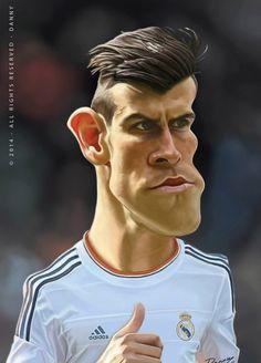 Caricatura de Gareth Bale