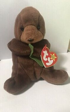 Ty Rare With Errors-Beanie Baby Seaweed The Otter Valuable Beanie Babies, Beanie Babies Value, Beanie Buddies, Ty Beanie Boos, Peace Beanie Baby, Baby Wise, Toy 2, Baby Princess, Otters