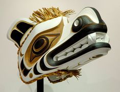 Spirit Bear Headdress by Tom D. Hunt, Kwakwaka'wakw artist (W81110)