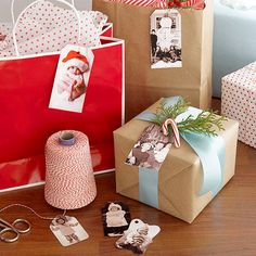 Label Christmas Gifts with Family Pictures