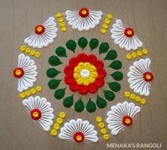 Rangoli Designs Simple Diwali, Simple Rangoli Border Designs, Rangoli Designs Latest, Rangoli Designs Flower, Free Hand Rangoli Design, Small Rangoli Design, Rangoli Ideas, Colorful Rangoli Designs, Flower Rangoli