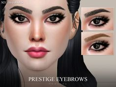 10 eyebrows, 16 colors, all ages and genders.  Found in TSR Category 'Sims 4 Hair Sets'