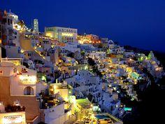 #Santorini at night, #Greece